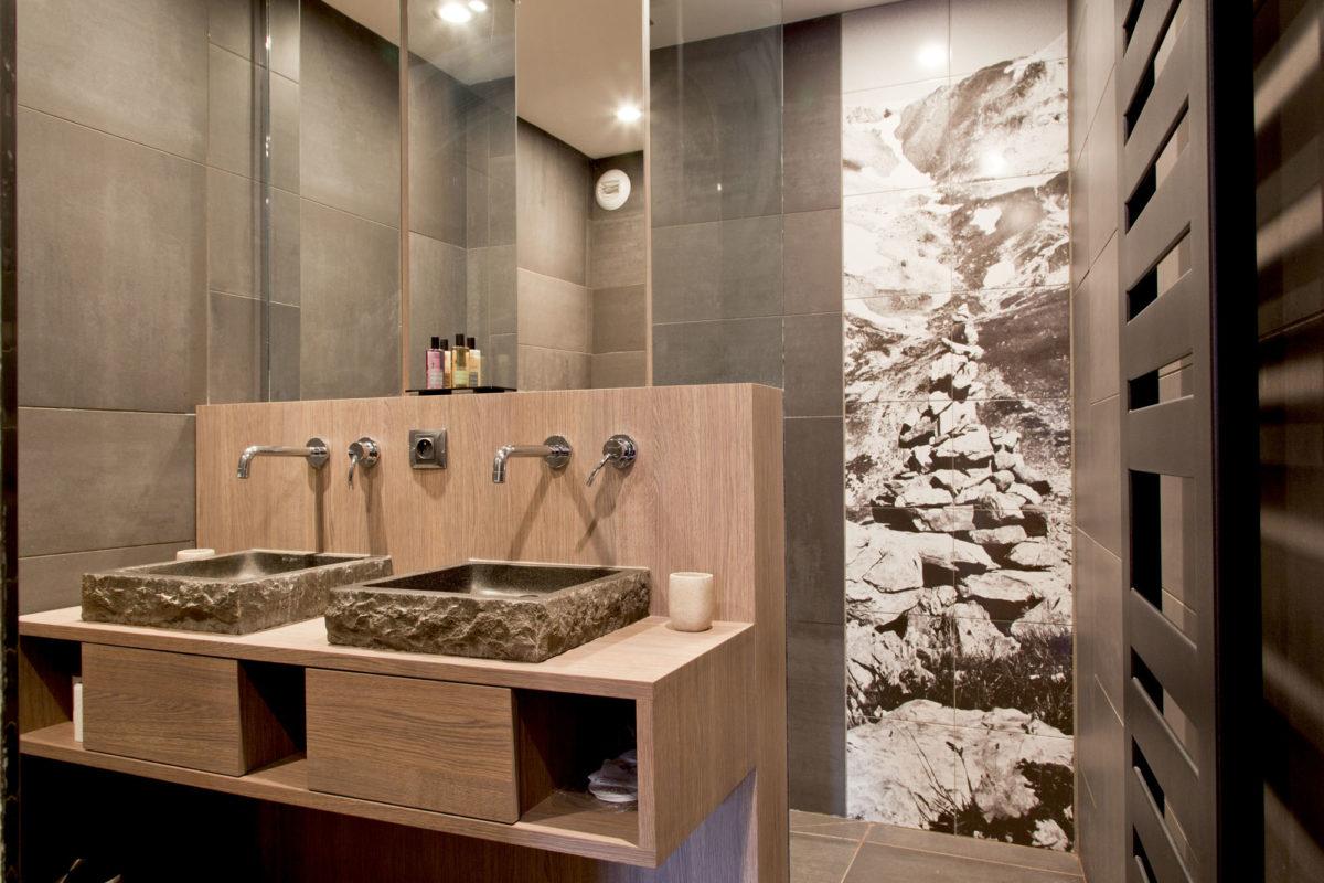 Salle de bains au Mineral Lodge
