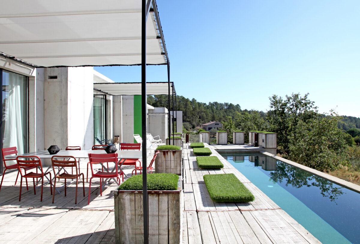 Espace piscine, les Blanches de Payzac, Ardèche