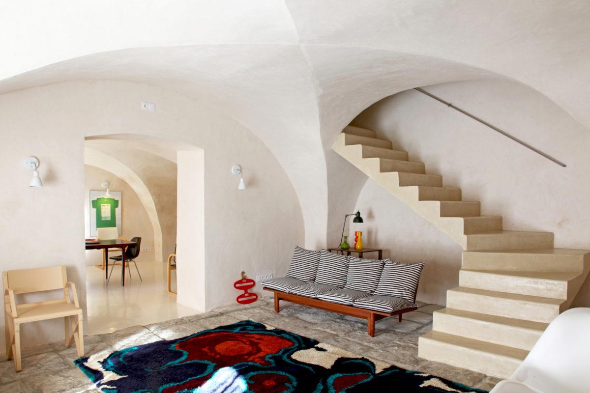 Salon, maison d'hôtes Maison Collongue, près de Lourmarin, dans le Luberon.