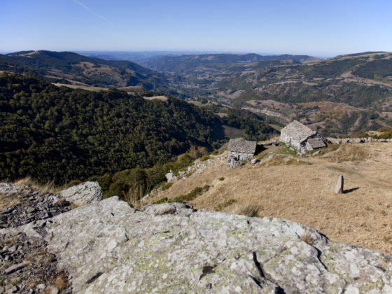 Vue sur la vallée, Buron de Niercombe, Cantal, Auvergne