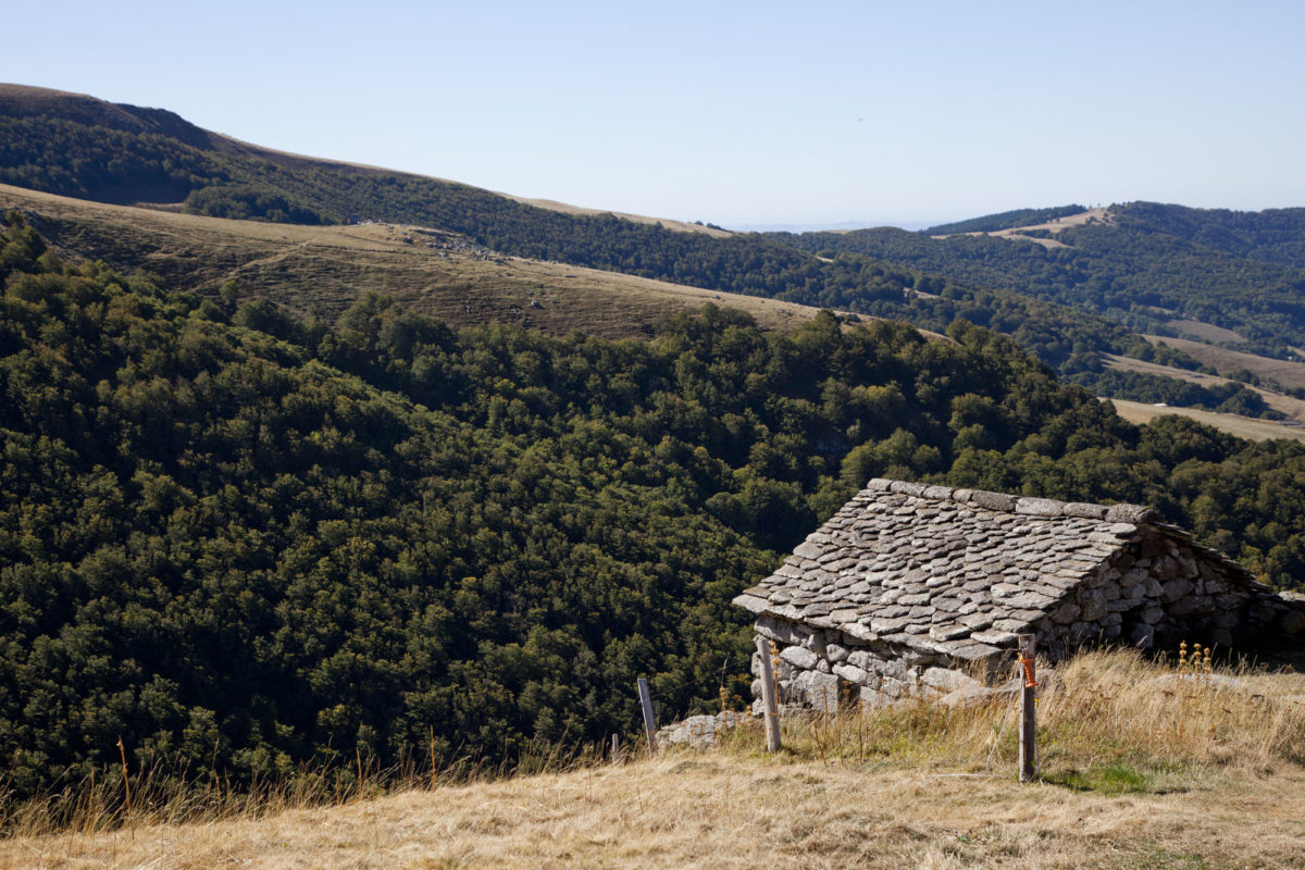 Pleine solitude, Buron de Niercombe, Cantal, Auvergne.