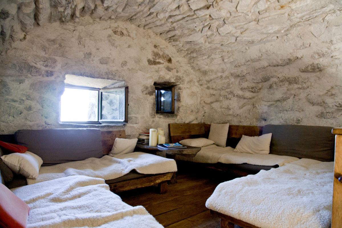 Chambre dortoir, Buron de Niercombe, Cantal, Auvergne