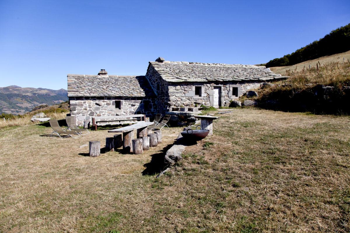 Architecture de pierres, Buron de la Chambe, Cantal, Auvergne.