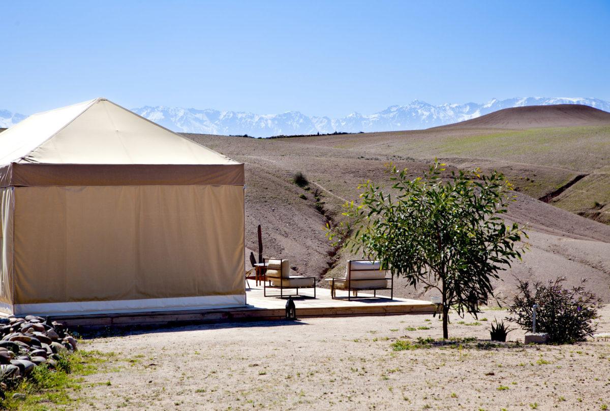 Tente, Inara Camp, Maroc. © Elodie Rothan