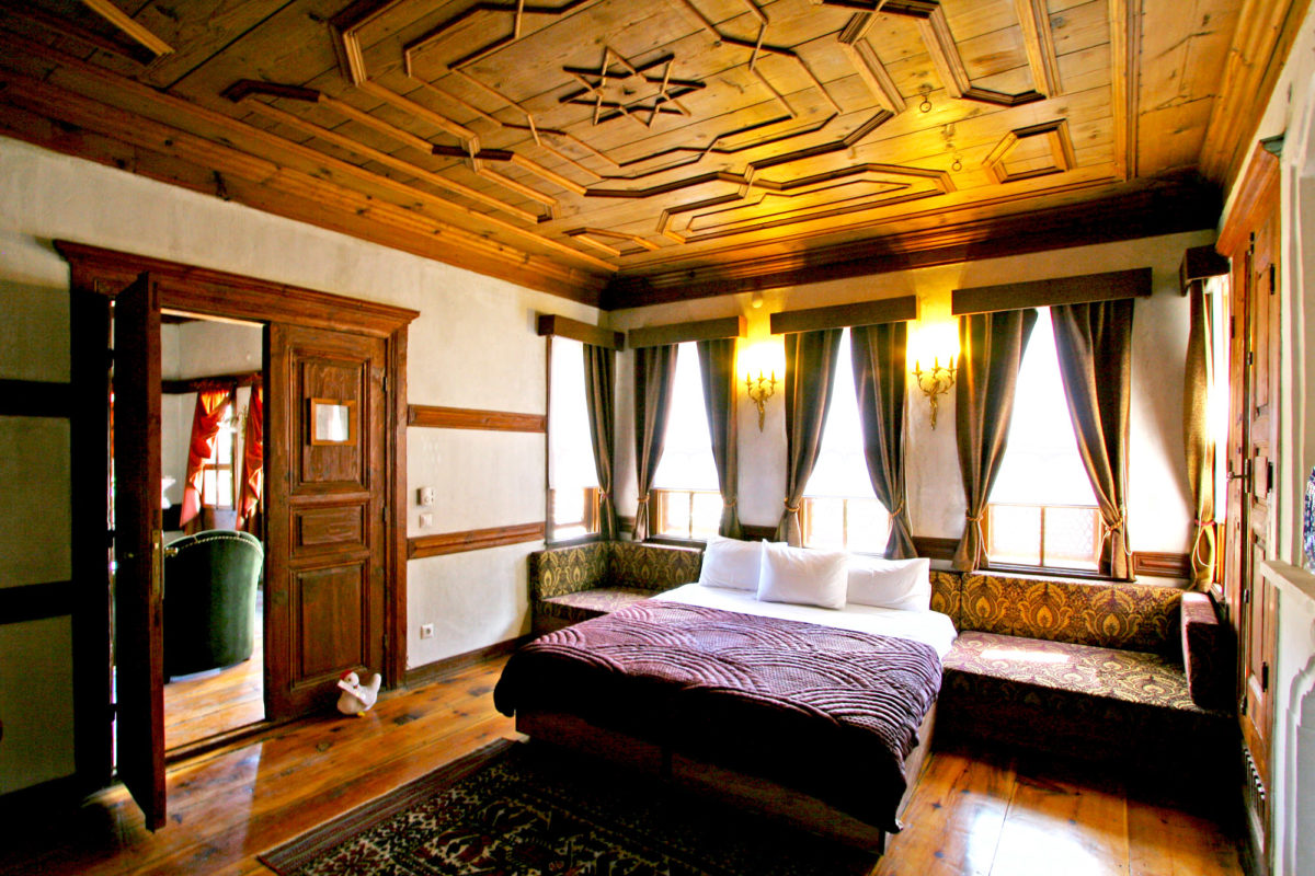 Chambre, Maison Gulevi à Safranbolu, Turquie.