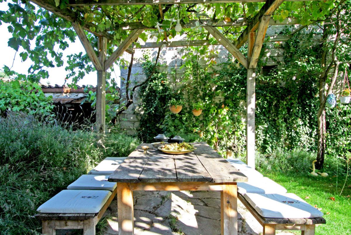 Terrasse, Maison Gulevi à Safranbolu, Turquie.
