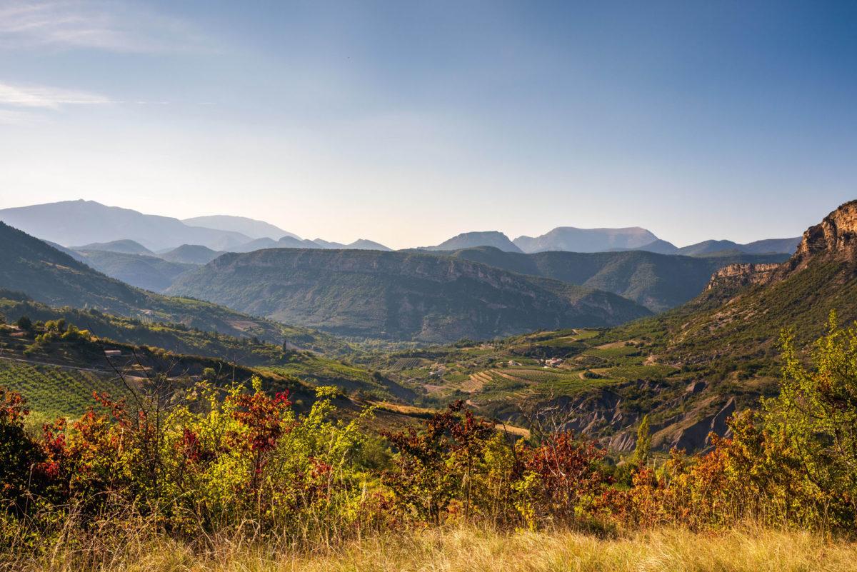Vue, Ferme Fortia, dans la Drôme. © Ferme Fortia