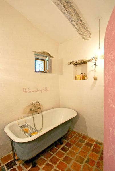 La salle de bains.