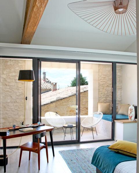 Terrasse, maison d'hôtes La Cour des Sens, dans le Luberon