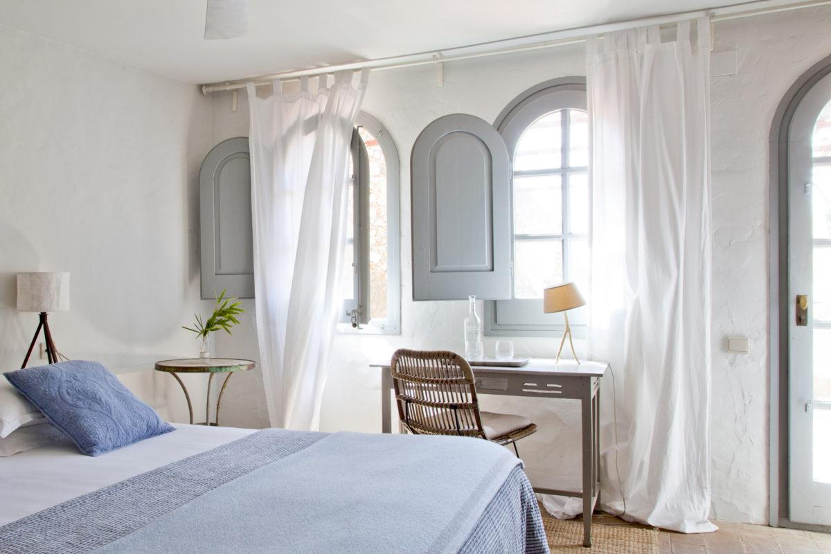 """Chambre """"Glicina"""", hôtel Les Hamaques, Catalogne, Espagne."""