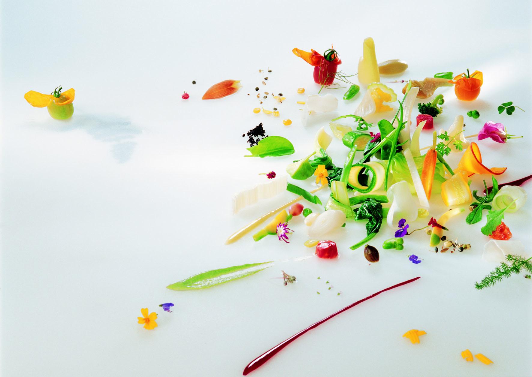 """Plat """"Gargouillou"""", restaurant Le Suquet. © Palis et JP. Trébosc"""