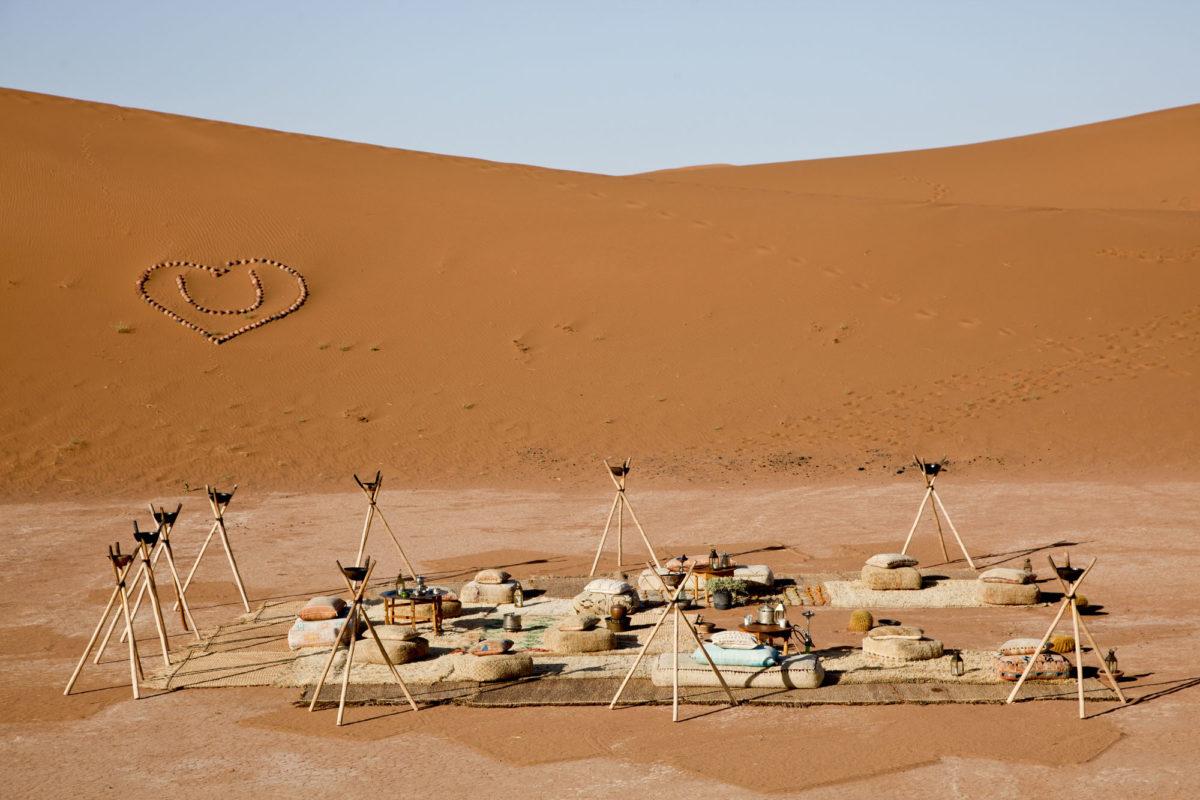 Au cœur du camp, Umnya Dune Camp, Maroc. © Elodie Rothan