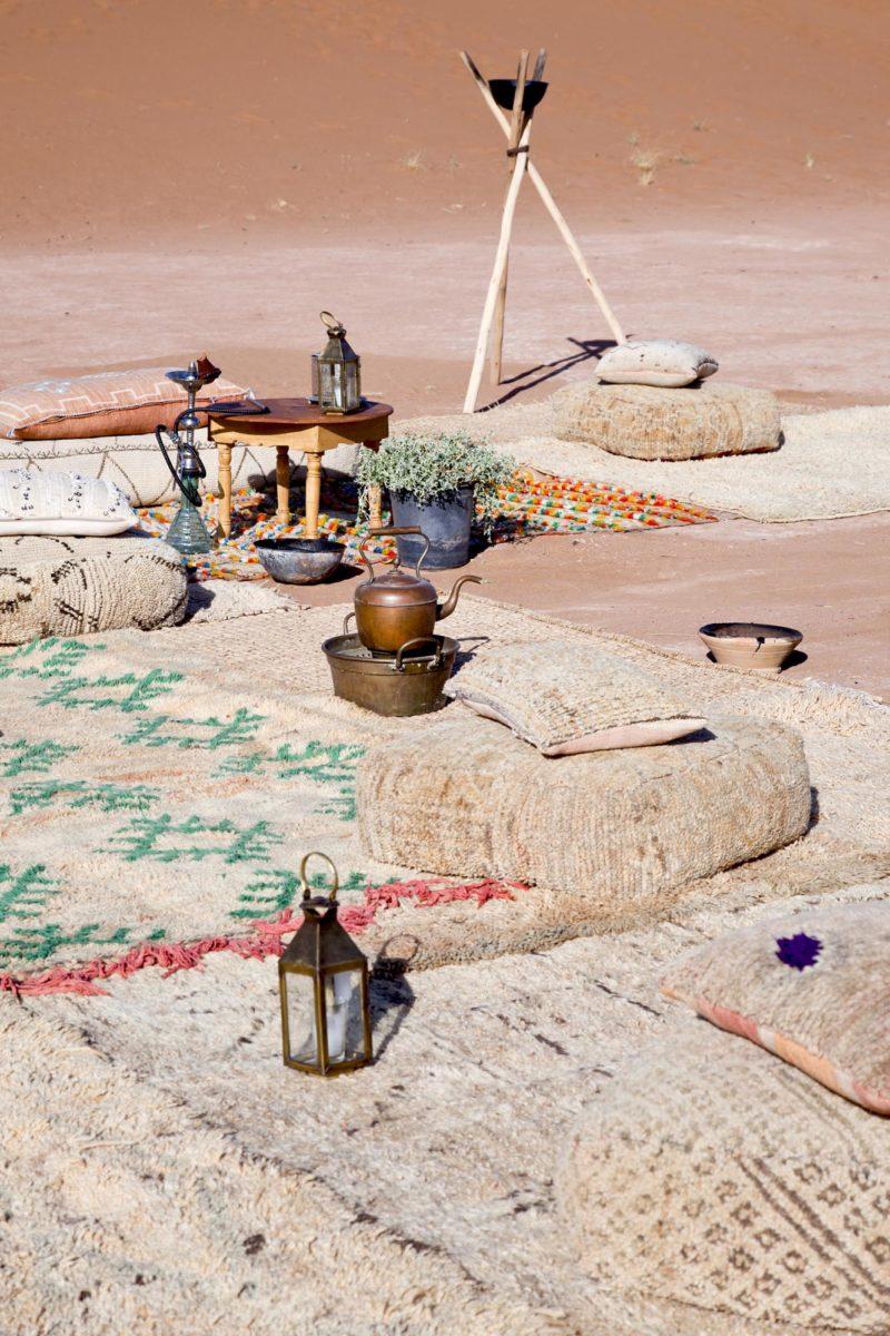 Le campement, Umnya Dune Camp, Maroc. © Elodie Rothan