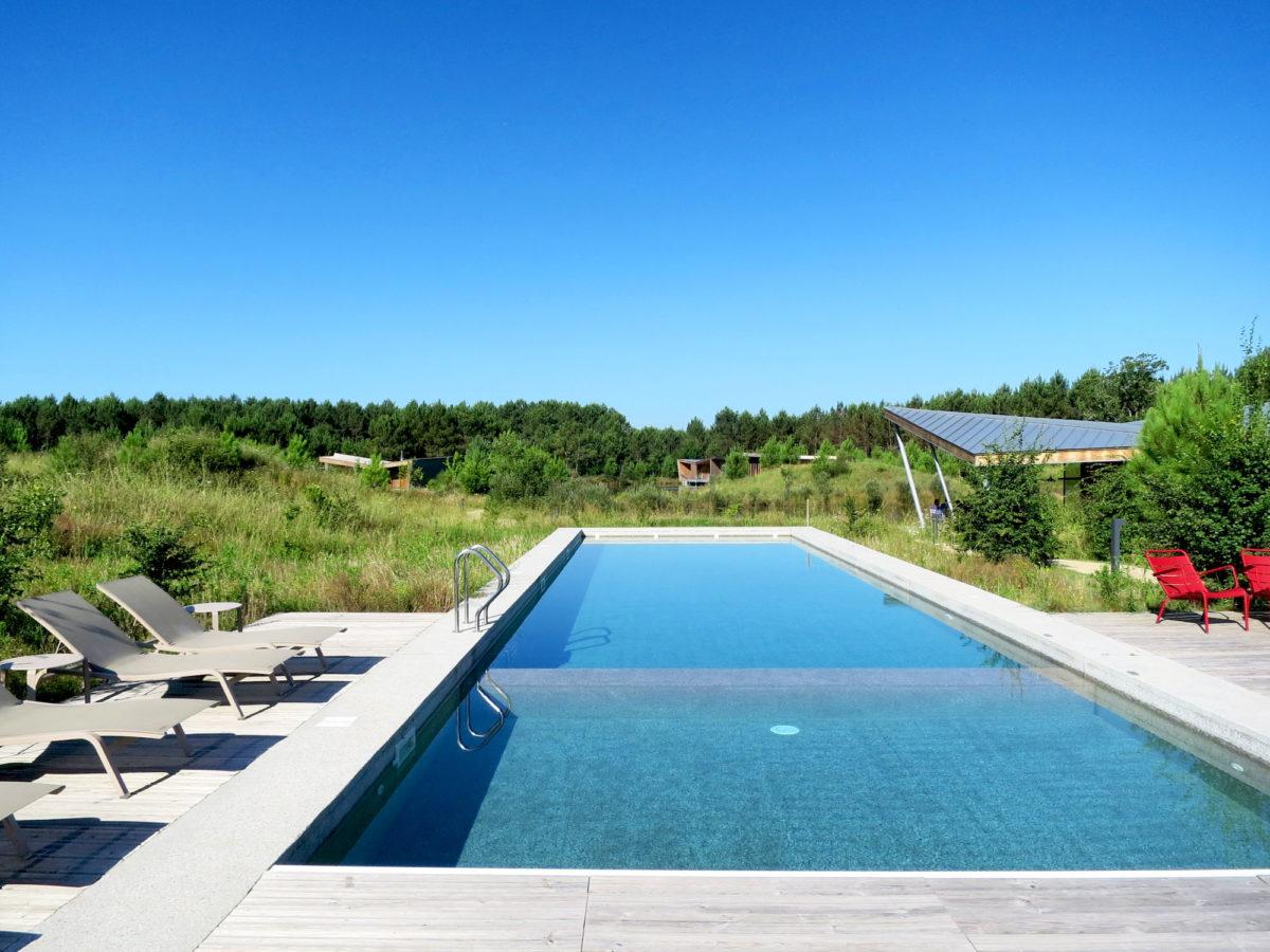 Espace piscine, Les Echasses, Landes.