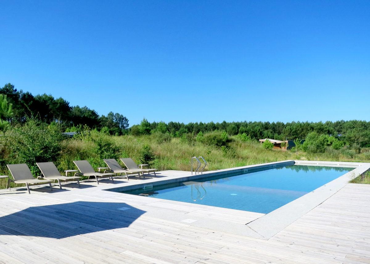 La piscine, Les Echasses, Landes.