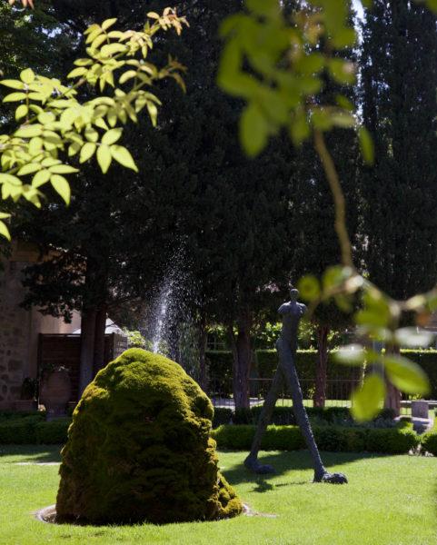 Le jardin de l'Hostellerie de l'Abbaye de la Celle