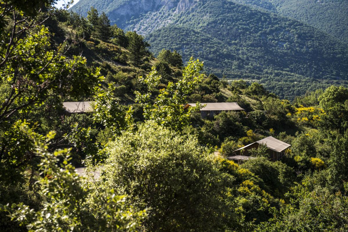 Vue d'ensemble, L'Osclaye, dans la Drôme provençale. © L'Osclaye