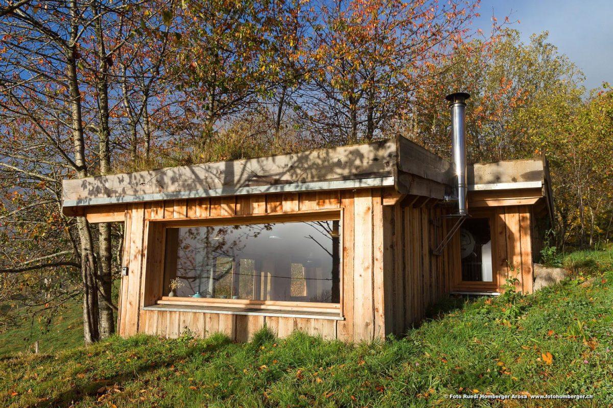 La cabane Alta Terra dans le Cantal. © Ruedi Homberger