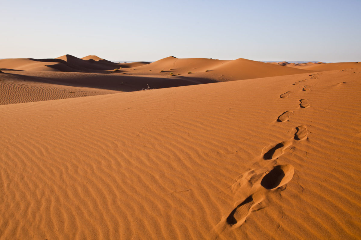 Les dunes, Umnya Dune Camp, Maroc. © Elodie Rothan