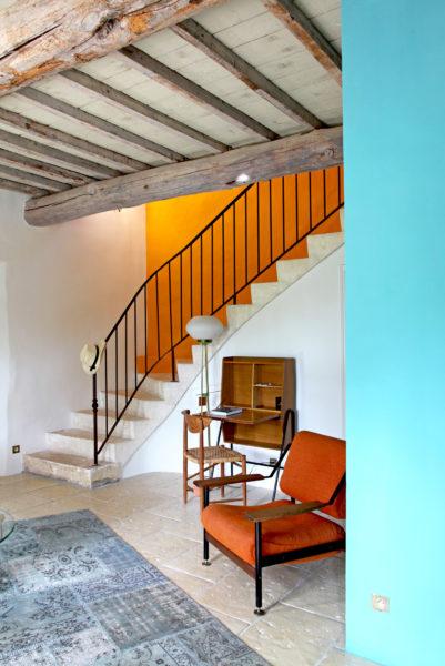 """Salon de la suite """"Le Cabanon"""", hôtel Le Hameau des Baux, Alpilles, Provence."""
